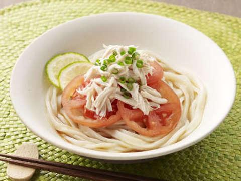 トマトとささみのさっぱりうどんのレシピ・作り方 | Happy Recipe ...
