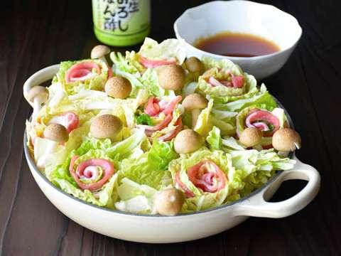 白菜 と 豚 バラ ミルフィーユ