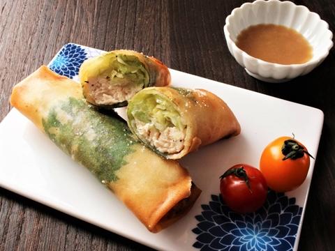 春キャベツと鶏ささみの揚げ春巻きのレシピ・作り方 | Happy Recipe ...